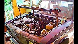 Точка опоры или как снять двигатель без лебёдки. Старое, архивное видео.