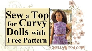 Curvy Barbie Crop Top Shirt With FREE Pattern