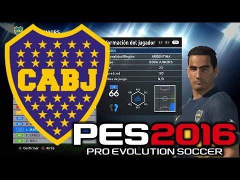 Pro Evolution Soccer 2016 Boca Juniors Caras / Faces