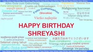 Shreyashi   Languages Idiomas - Happy Birthday