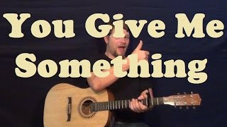 You Give Me Something (Jamiroquai) Easy Strum Chord Guitar Lesson Licks How to Play Tutorial