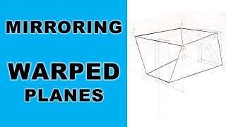 How to Mirror Warped planes in Perspective I Perspective drawing tutorials I How to draw