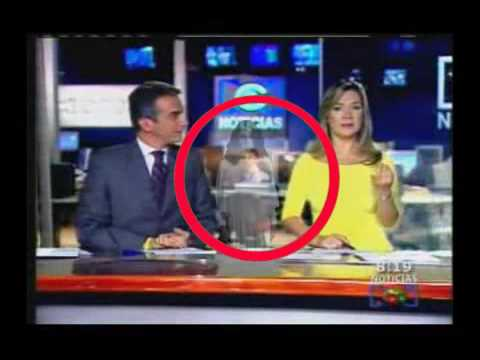 Ghost Caught On Tape On The News!