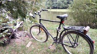Обзор и тест-драйв велосипеда ХВЗ Украина 1971 года.(Лесопарк Шоу представляет обзор на переделанный своими руками велосипед ХВЗ