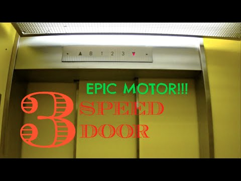 EPIC MOTOR! Vintage Pittsburgh Elevator - Carnegie Library - Oakland, PA with 3 Speed Door