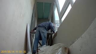 Ремонт балкона. Потолок из пластиковых панелей. ч1