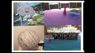 D.I.Y Trolls party decorations & Unbreakable pinata!