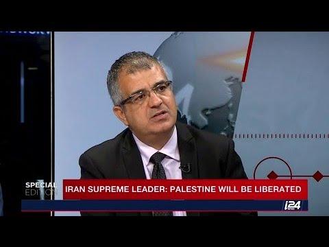 Iran's supreme leader, Ayatollah Khamenei, saying: 'Palestine will be liberated.'