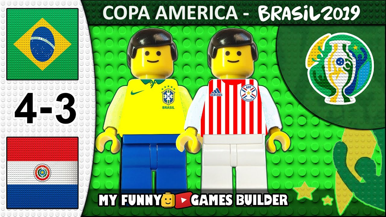 Download Brazil vs Paraguay 4-3 • Copa America 2019 • Penalty Shootout - Goals & Highlights in Lego Football