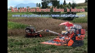 SAKPATTANA KM AMT. in Indonesia/World's corn combine harvester(2)