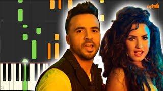 Echame la Culpa - Luis Fonsi ft Demi Lovato - Synthesia - Piano Cover - Tutorial