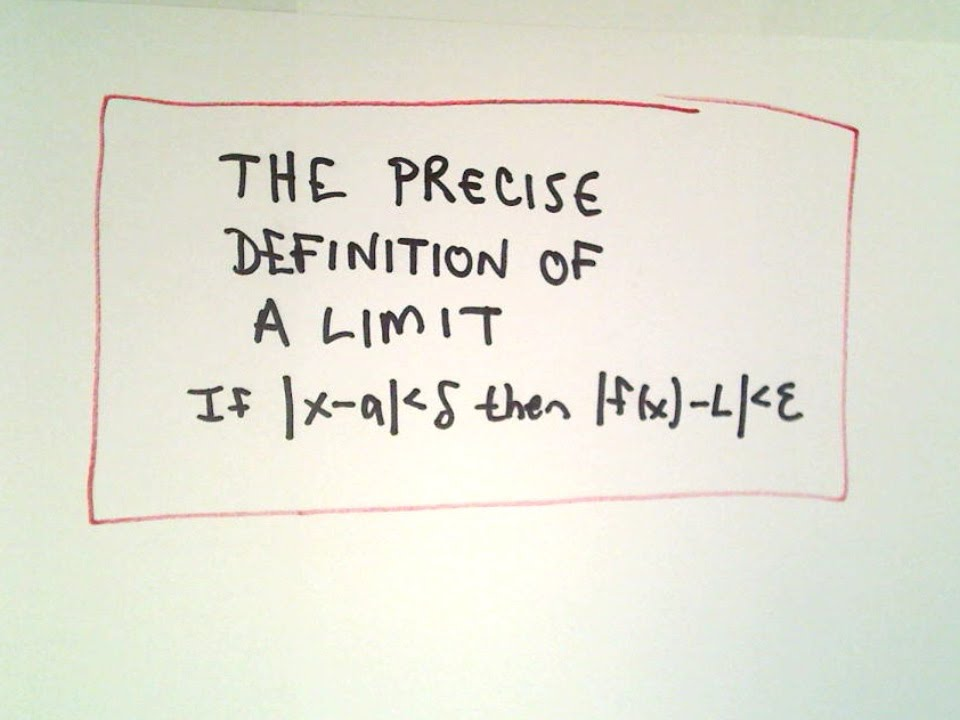 Precise Definition of a Limit - Understanding the Definition - YouTube