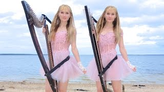 TITANIC - My Heart Will Go On (Harp Twins) Camille and Kennerly