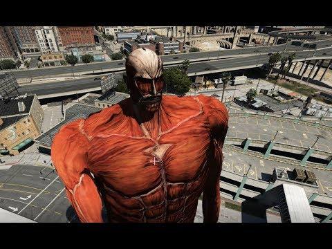 GTA 5 - Đại chiến Titan (Attack on Titan) | GHTG