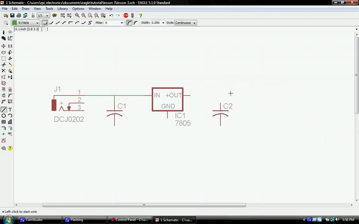Cadsoft EagleCad Tutorial Lesson 3 - YouTube