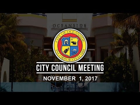 Oceanside City Council Meeting - November 1, 2017