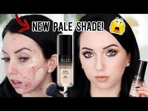 NEW SHADE! MILANI CONCEAL + PERFECT 2 in 1 Foundation {First Impression Review & Demo!}