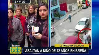 Breña: captan asalto a niño de 12 años en la puerta de su casa