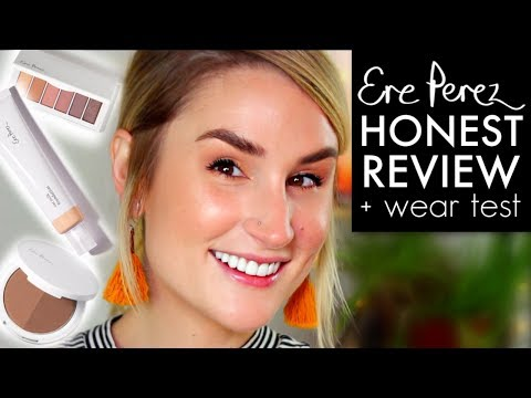 ERE PEREZ OAT MILK FOUNDATION, EYESHADOW + BRONZER   Wear Test + Honest Review   CLEAN MAKEUP