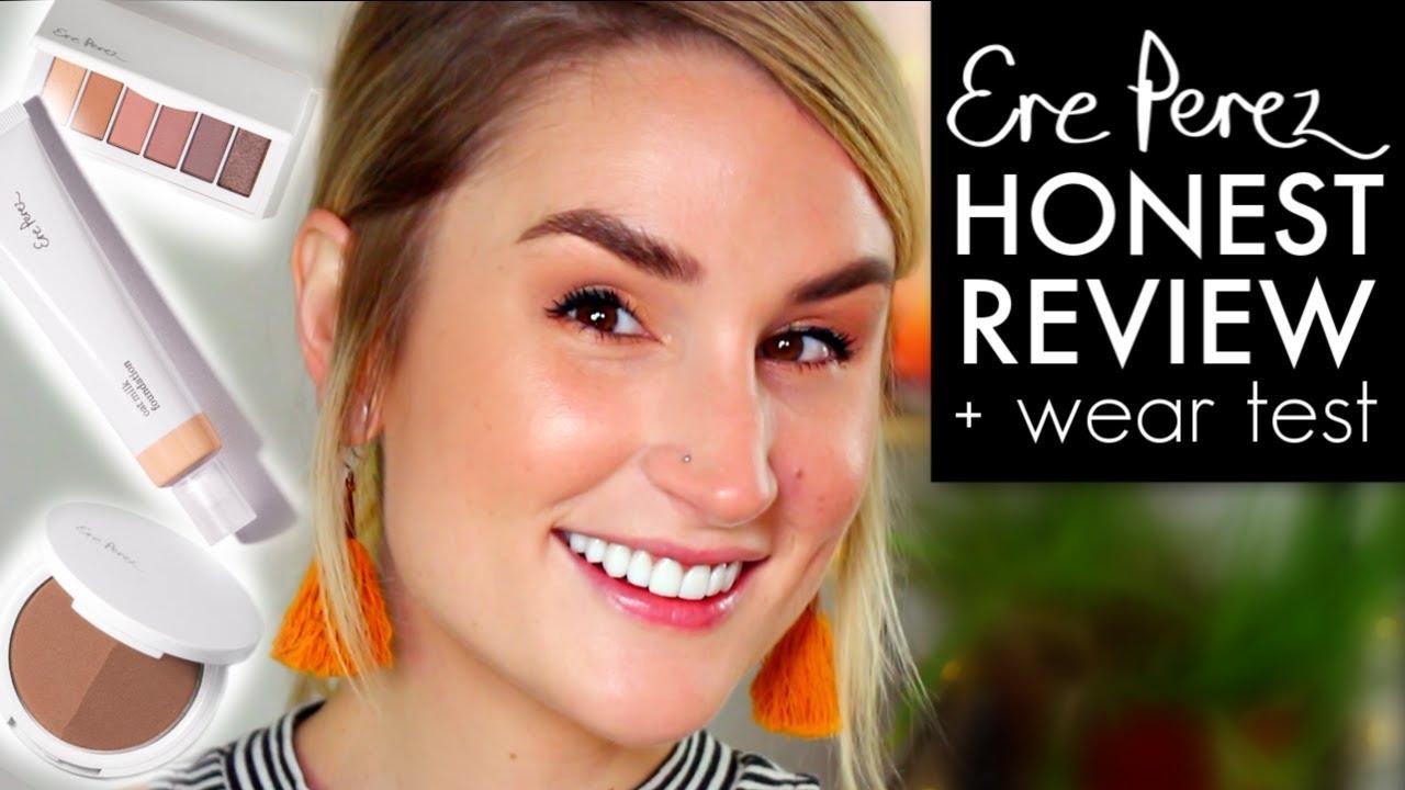 ERE PEREZ OAT MILK FOUNDATION, EYESHADOW + BRONZER | Wear Test + Honest Review | CLEAN MAKEUP
