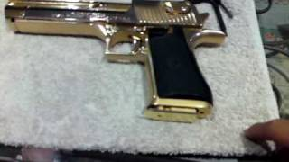 24k gold Desert Eagle THE REAL DEAL 권총