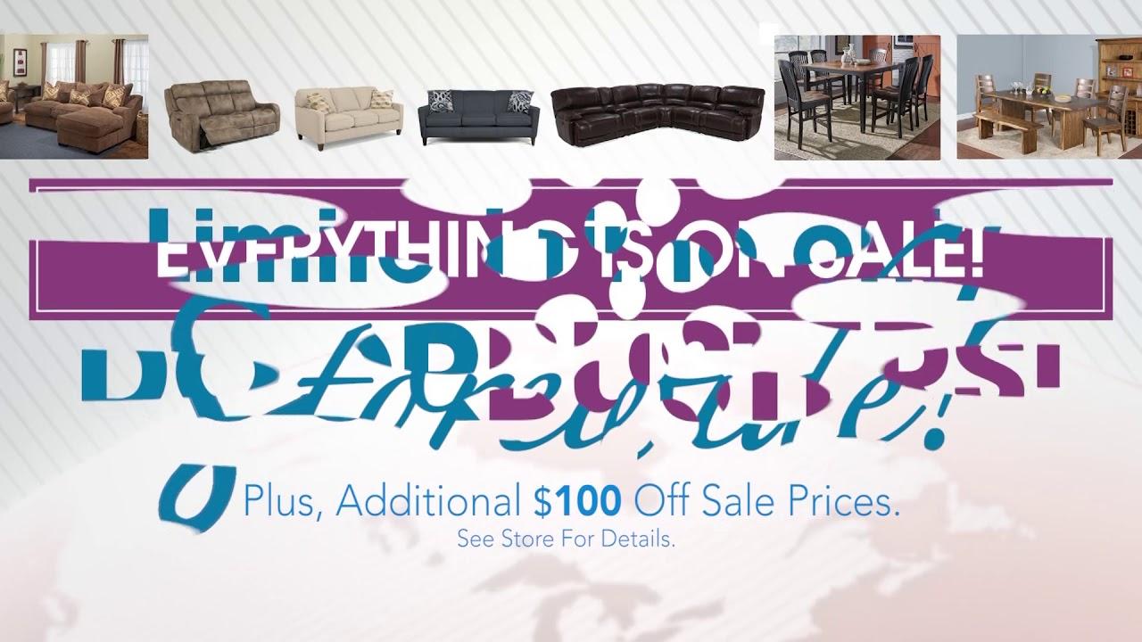 Conlins furniture 72 hour sale sept 2017