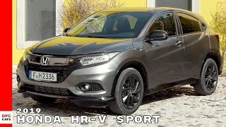 For the new HR-V Sport model, a high-gloss black chrome panel repla...