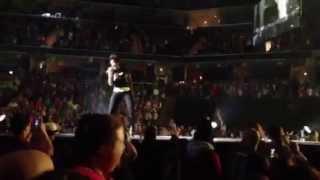 Myshel singing with TobyMac 2013