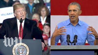 In Wisconsin, two presidents offer two different visions of America