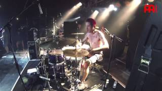 "Pat Lundy - Funeral For A Friend - Drum Cam - ""Roses for the Dead"" - Live"