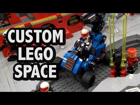 Massive LEGO Space Base Battle | Blacktron M:Tron Futuron Police
