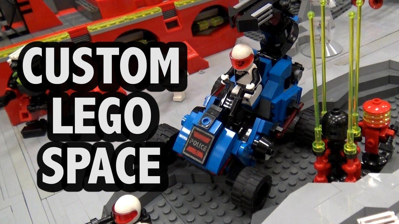 Massive Lego Space Base Battle Blacktron M Tron Futuron Police Youtube Lego Space Lego Space Police Lego