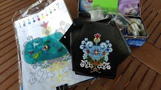 видео Стильная сумочка-клатч с вышивкой бисером