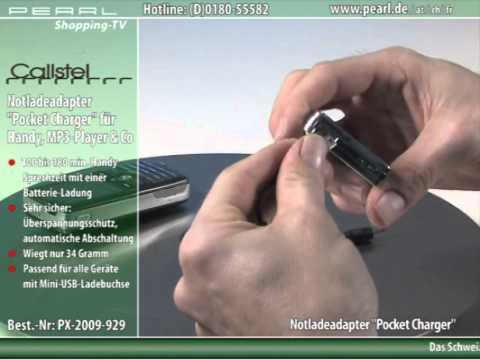 "Callstel Notladeadapter ""Pocket Charger"" für Handy, MP3-Player & Co."
