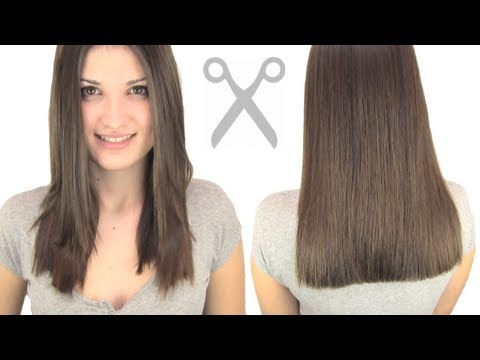 How To Cut Hair Straight Youtube