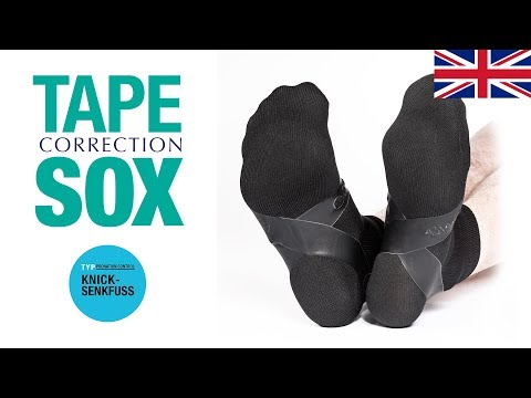 COMPRESSANA TAPE SOX – Type Pes valgus/Pronation Control - Correction socks with tapes