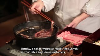 Learn from the master chef how to eat -SUKIYAKI-