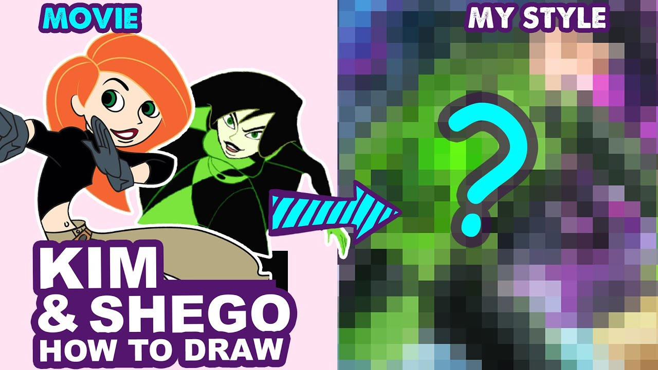 How to Draw Kim And Shego | Semi Realistic Style | Huta Chan