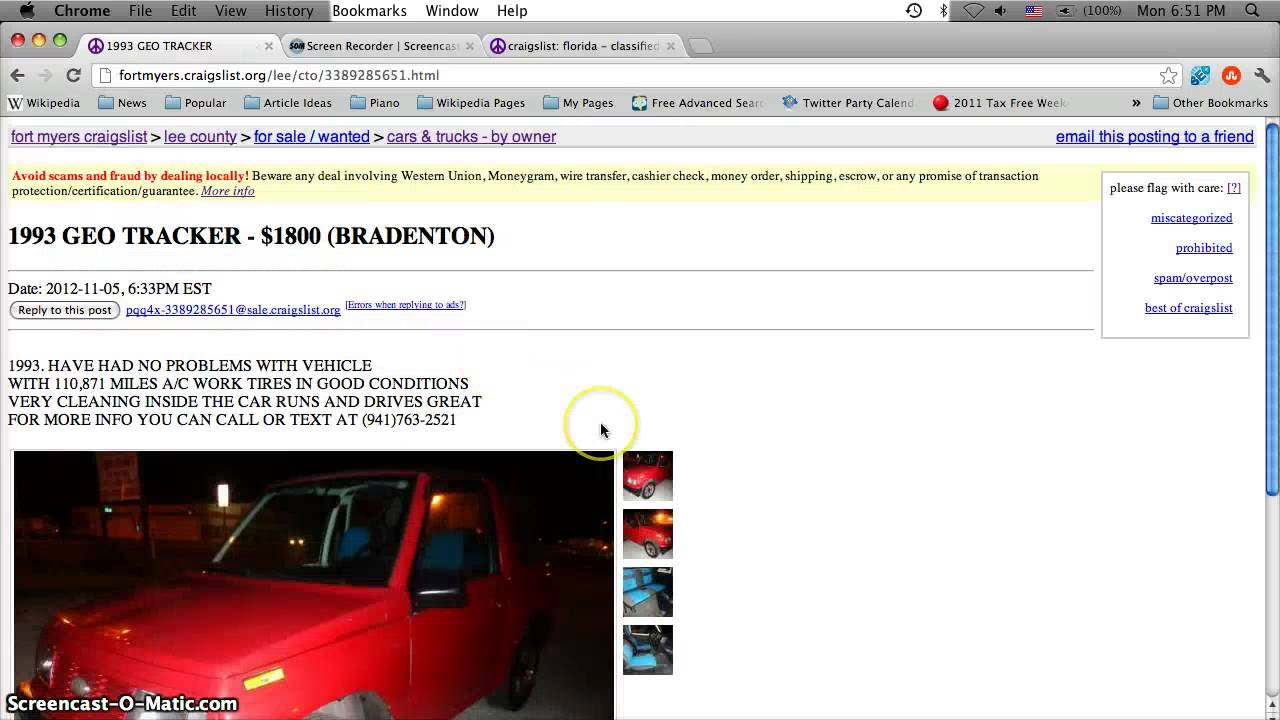 Craigslist Lee County Florida Used Cars For Sale By Owner
