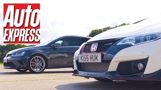 Civic Type R vs Golf GTI Clubsport S: FWD hot hatch drag race