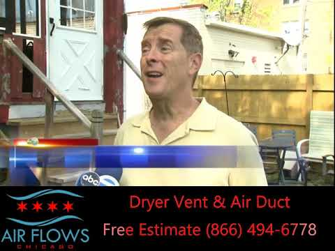 ABC 7 Chicago With AIR FLOWS CHICAGO Dryer Vent Cleaning