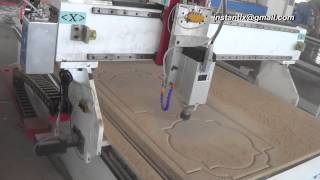 1325 CNC Router work on MDF board, wood door, China cnc router,