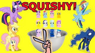 WHAT&#39S INSIDE MY LITTLE PONY SQUISHIES?  INSPIRED BY DR. SQUISH!