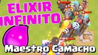 GANO CONTRA ELIXIR INFINITO Y LEGENDARIAS AL MÁXIMO ¡MAESTRO CAMACHO! | Clash Royale con TheAl