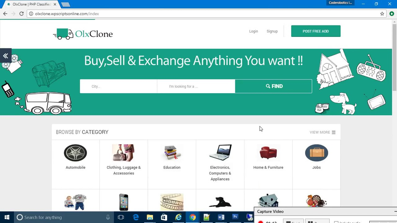 Classified Ads Website, OLX Clone Script, Online Buy and Sell