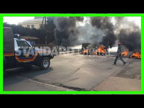 Breaking News | Chaos erupt as nasa, jubilee clash in nairobi (photos)