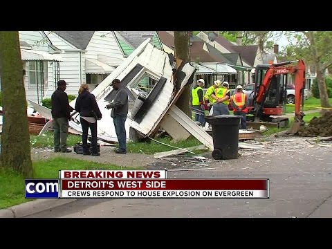 Crews respond to house explosion on Detroit's west side