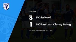 1. polčas, FK Šalková - ŠK Partizán Čierny Balog, 9.5.2015