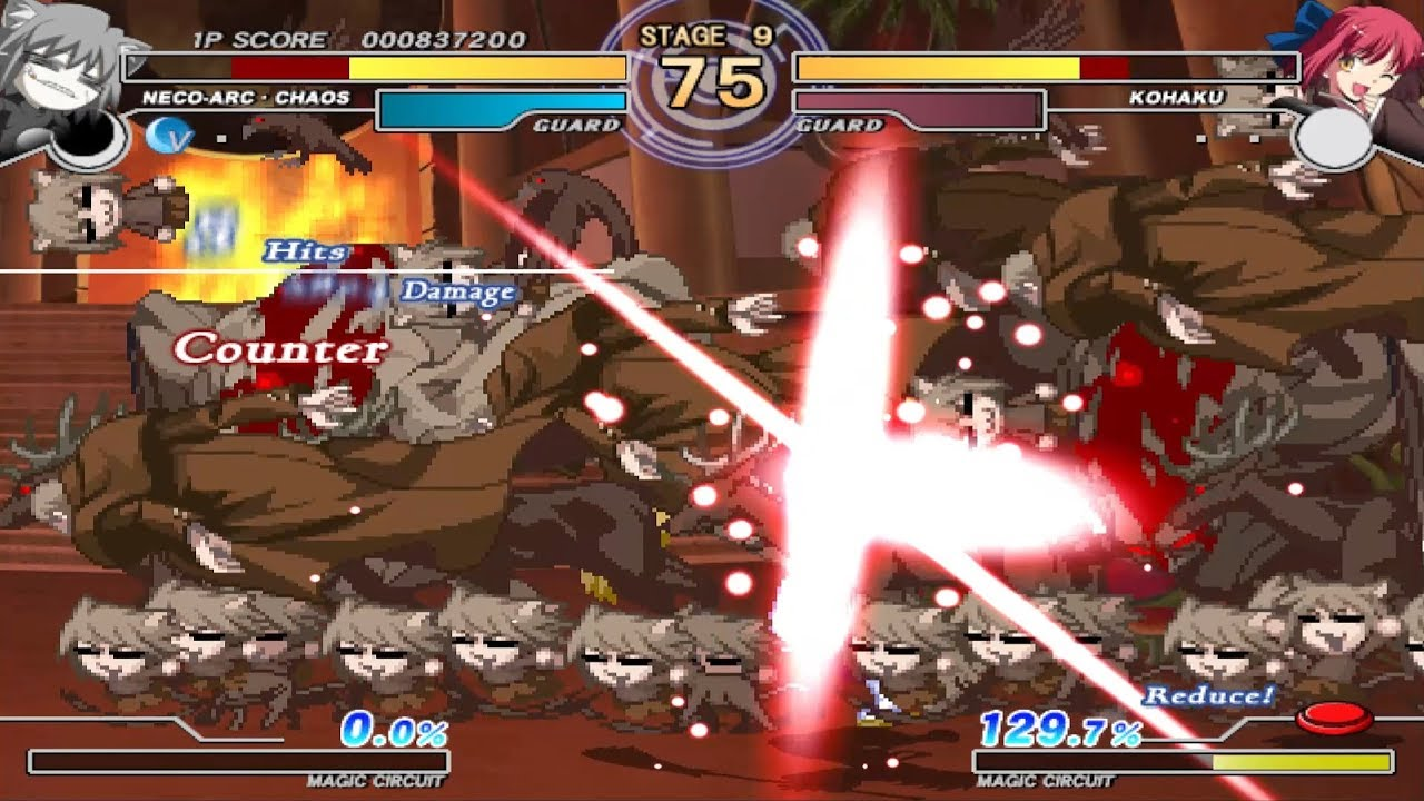Melty Blood Actress Again Ps2 Play As Neco Arc Chaos Youtube