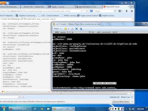 Command line LDAP scripting - user_add.ldif
